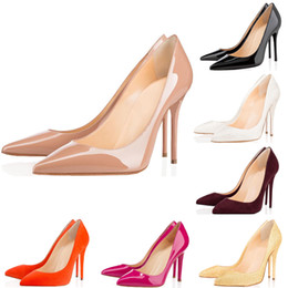 $enCountryForm.capitalKeyWord Australia - 2019 Fashion Designer Women Shoes Red Bottoms Pumps High Heels 8cm 10cm 12cm Black White Nude Pink Pointed Toe Dress Wedding Shoes35-42