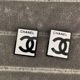 Stamp alphabet number online shopping - New Arrival Price men stamp letter black white square Stud Earrings K Gold plated colors L stainless steel Women s Earrings