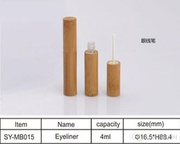 empty eyeliner Australia - 200PCS Empty 4ml high quality Handmade bamboo eyeliner tube cosmetics DIY Natural bamboo packaging empty bottle Refillable Bottles