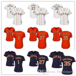 $enCountryForm.capitalKeyWord Australia - Women Majestic Baseball Jersey #1 Carlos Correa 27 Jose Altuve 35 Justin Verlander White 2018 Gold Program Girls Ladies Baseball Jersey