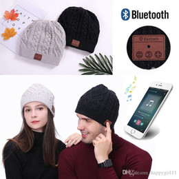Wholesale Warm Soft Beanie Wireless Bluetooth Hat Cap Headset Headphone Speaker Mic Stero Voice e151