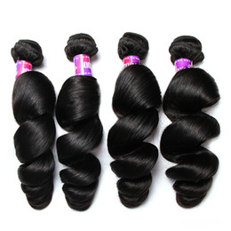 Curly Human Hair For Weaves Australia - Loose Wave Human Hair Weave Brazilian Virgin Human hair Bundles Brazilian Loose Deep Wave Curly Virgin Human Hair Extensions For Black Women