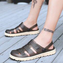 Slide Sandals Australia - YOUYEDIAN 2019 Men Sandals Outdoor Slides Summer Beach Sandals Men Hollow Out Casual Shoes Flat Sandale Homme