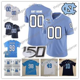 $enCountryForm.capitalKeyWord Australia - 2019 North Carolina Tar Heels 150TH Custom Any Name Number Stitched Light Blue White #98 Lawrence Taylor 8 Carter NCAA Football Jersey
