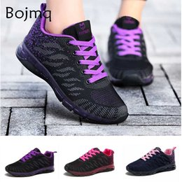 lace tennis shoes Canada - Tenis Feminino Tenis Mujer 2020 Hollow Air Cushion Women Tennis Shoes Purple Zapatos Mesh Lace-up Sneakers Soft Gym Jogging Shoe