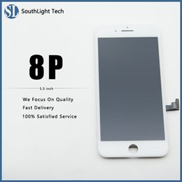 iphone screen glue Australia - Really Good Price For Iphone 8 Plus LCD Display High Brightness Touch Screen All Fingerprint Tested Well With Cold Glue Frame Full Assembled