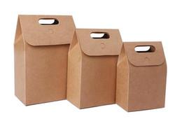 $enCountryForm.capitalKeyWord Australia - Portable kraft paper bag folding nut tea gift box packaging food box kraft handle bag wholesale BG428