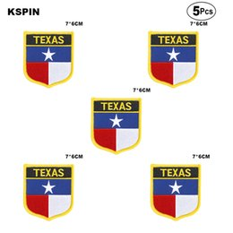 Wholesale texas irons resale online - U S A Texas Flag Embroidery Patches Iron on Saw on Transfer patches Sewing Applications for Clothes in Home Garden