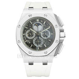 $enCountryForm.capitalKeyWord Canada - New White Ceramic Bezel Luxury Watch Chronograph Stopwatch Quartz Movement Wristwatches 43mm ceramic case Mens Designer Watches Men Sports