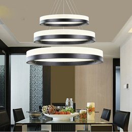 $enCountryForm.capitalKeyWord Australia - Best Price Modern Chandelier Acrylic Lamps 3 Ring Led Chandelier Fashion Designer Hanging Lamp Circle Diameter 60*40*20cm