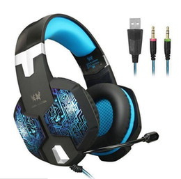 Chinese  EACH G1000 Professional Gaming Headphone PS4 XBOX ONE Headset with Mic Stereo Bass Breathing LED Light PC Tablet 8pcs lot manufacturers