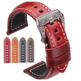 $enCountryForm.capitalKeyWord Australia - Cowhide Watch Strap Bracelet 20mm 22mm 24mm 26mm 4color Women Men Genuine Leather Watchbands Clock Accessories