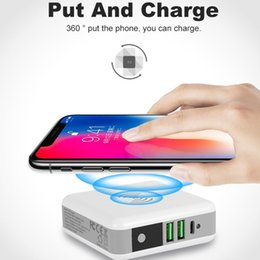 $enCountryForm.capitalKeyWord Australia - 6700mAh Power Bank Wireless Quick Charger Protable Travel Mobile Phone Charger External Battery Dual USB Powerbank for Mobile Phone
