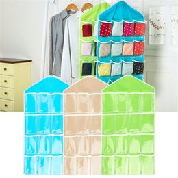 $enCountryForm.capitalKeyWord Australia - 1PCS Polyester 16 Pockets Home Door Wall Vertical Hanging Wall Storage Organizer For Socks Shoe Glasses Keys Sorting