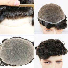 Großhandel Bigtree Hair Replacement Männer Toupet volle Schweizer Spitze Menschenhaar-Toupet