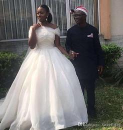 $enCountryForm.capitalKeyWord Australia - 2019 South Africa White Wedding Dresses Off Shoulder A Line Bridal Gown Custom Made Wedding Dress Cheap