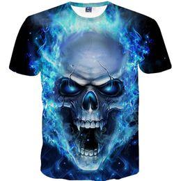 1493a4daa 2019 Mens Skull 3D Printing Tees Shirt Short Sleeve T-Shirt Blouse Tops  Summer Men tshirt Tops Plus Size shirt streetwear