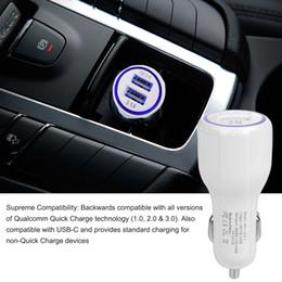 QC3.0 Auto Ladegerät Für Handy Dual USB Auto Ladegerät Schnellladung 3.0 Schnellladeadapter Mini Auto Telefon USB Ladegerät