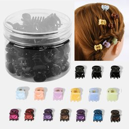 $enCountryForm.capitalKeyWord Australia - 12-24Pcs Box Black Mix Color Small Girl Baby Safe Plastic Hair Claw Clips Hairpins Girls Korean Style Hair Styling Accessories