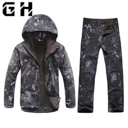 $enCountryForm.capitalKeyWord Australia - Winter Autumn Waterproof Shark Skin Softshell Jacket Set Men Tactical CP Camouflage Jacket Coat Camo Army Clothes Suit