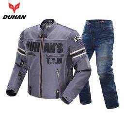 $enCountryForm.capitalKeyWord Australia - DUHAN Motorcycle Jacket Breathable Racing Riding Moto Jacket Windproof Motorcycle Pants Suit Clothing for Men