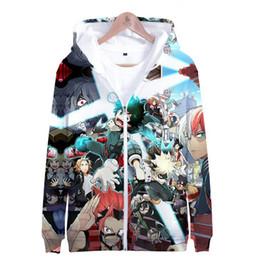 Anime white uniforms online shopping - My Hero Academia Zipper Jacket Boku No Hero Academia D Hoodie Anime Cosplay Costume School Uniforms Mens Hoodies Sweatshirts