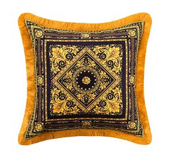 le diamonds NZ - 50CM LE VASE Baroque Throw Decorative Pillows Cases Luxury Designer Velvet Thicken Tassel Cushion Cover Royal Home Interior Hotel Collection