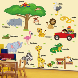 $enCountryForm.capitalKeyWord Australia - Children Childhood Stickers Animal Removable Wall decals for baby room Stickers Kindergarten Classroom Decoration whale Removable Sticker