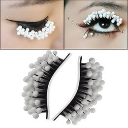 $enCountryForm.capitalKeyWord NZ - Hot Selling Personality of Snow Princess eyelashes False Eyelashes Colorful Fashion Party white Eye Lashes Exaggerated Art Eyelashes