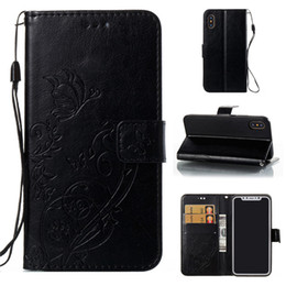 $enCountryForm.capitalKeyWord Australia - Butterfly Embossed Magnetic Flip Wallet Card Holder Shockproof PU Leather Stand Phone Case Cover For Apple iPhone 6 6S Plus 7 8 Plus X 10 XS