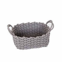 $enCountryForm.capitalKeyWord UK - Nordic Thick Cotton Rope Storage Box Clothes Laundry Basket Natural Fabric Baby Toys Storage Basket Desktop Small Organizer Bo