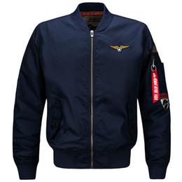 Pilot Motorcycle Jacket Australia - Bomber Men New Spring Autumn Army Military Air Force Flight Pilot Zipper Thin Coat Plus Size Motorcycle Jacket 6xl C19041001