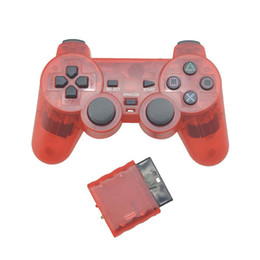 playstation wireless controllers Canada - Eastvita Transparent Color Controller For Sony PS2 Wireless Bluetooth gamepad 2.4G Vibration Controle Gamepad for Playstation 2