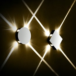 Venta al por mayor de Moderno pasillo creativo ronda lámpara de pared dormitorio dormitorio pasillo pasillo hotel proyecto LED luz interior
