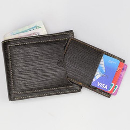 Vintage Lacing Cards Australia - Purse For high quality Short Leather Wallet Men Credit Card Holder Purse Vintage Male Clutch Trifold Men Money Wallets Carteira Man Clip W0