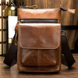 $enCountryForm.capitalKeyWord Australia - Westal Men's Bag Genuine Leather Man Messenger shoulder Bags Male Small Crossbody Bags For Men Male Phone Belt Bag Pouch 8868 Y19061903