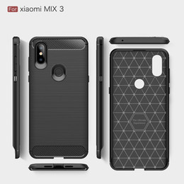 Free Cellphone Cases Australia - 2018 New CellPhone Cases For Xiaomi Mix3 Luxury Carbon Fiber heavy duty case for Mi Max3 cover Free DHL shipping