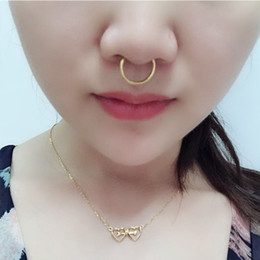 $enCountryForm.capitalKeyWord NZ - Special Offer Fashion Nose Rings Advanced Nose Women Mens Hoop Ring Simple Body Piercing Jewelry Wholesale