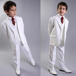 $enCountryForm.capitalKeyWord NZ - Child Tuxedos High Quality Two Buttons White Notch Lapel Boy's Formal Wear Occasion Kids Tuxedos Wedding Party Suits (Jacket+Pants+Vest+Tie
