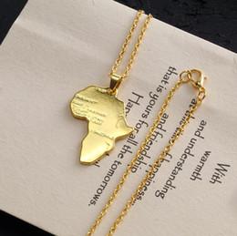 $enCountryForm.capitalKeyWord Australia - Amazon Hot Sale Gold Silver Africa Map Necklace Hip Hop Necklace Jewelry