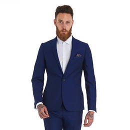 $enCountryForm.capitalKeyWord UK - Custom Royal Blue Men Suits For Wedding Mens Suits Slim Fit Groom Tuxedo Formal Male Blazer Mans Classic Suit Party 2 Pieces