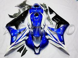 Honda F5 Australia - New Injection Mold Motorcycle ABS Full Fairings kit Fit for HONDA CBR600RR F5 2007 2008 07 08 600RR CBR600 Fairings set custom white blue