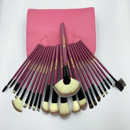 $enCountryForm.capitalKeyWord Australia - 24pcs Makeup Brushes Sets horse hair and synthetic fiber with Leather pouch in Proffesional Veninow Brand