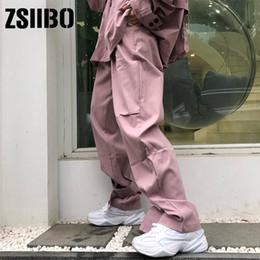 Punk clothing online shopping - High waist pants loose joggers women army streetwear punk black cargo women capris trousers pantalones trousers size clothes