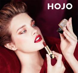$enCountryForm.capitalKeyWord Australia - 2019 HOJO Lipstick Makeup Streamer Diamond Shine Matte Lip Shades 9 Color Sexy Luster Beauty Moisturized Cosmetics with Mirror Retail box