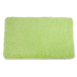 China Fluffy Rugs Anti-Skid Area Rug Dining Room Home Bedroom Carpet Floor Mat(19.6 inch x 31.5 inch , Green) cheap bedroom fluffy floor mats suppliers