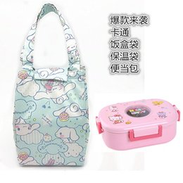 Wholesale Kitty lunch box bag portable thermal insulation bag outdoor insulation Cute cartoon Melody canvas waterproof lunch