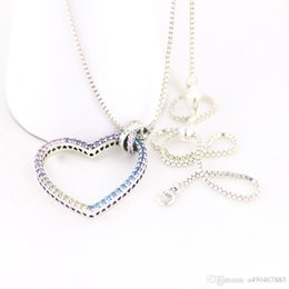 Heart Shaped Chains For Couples Australia - The latest hot fashion brand S925 necklace heart-shaped silver necklace for fashion women and couples gifts come with box