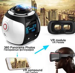 Camera V1 Australia - MOQ:5PCS V1 HD 4K 360 Camera Ultra Mini Panoramic WIFI 16MP 3D Waterproof Sports Driving VR Action Camera Action Video camera