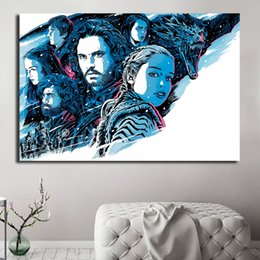 $enCountryForm.capitalKeyWord NZ - A Dragon The Iron Throne Poster Game Of Thrones HD Poster Canvas Painting Oil Framed Wall Art Print Pictures For Living Room Home Decoracion